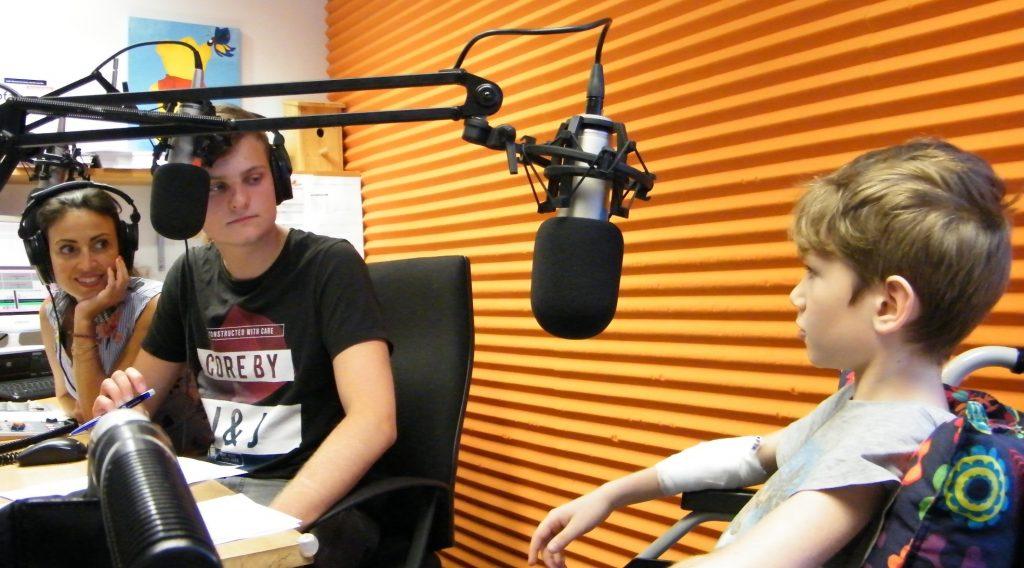 Bild vom Studio von Radio RUMMS