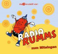"""Abbildung des CD-Covers der CD """"Radio RUMMS zum Mitsingen"""""""